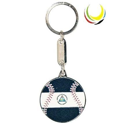 Amazon.com : Keychain NICARAGUA BASEBALL : Sports Fan ...