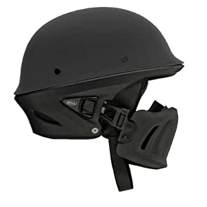 Bell Rogue Unisex-Adult Half Street Helmet (Solid Matte Black, Large) (D.O.T.-Certified)