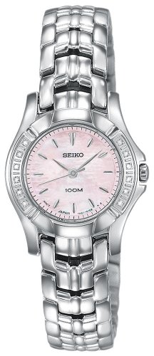 (Seiko Women's SXGN49 Diamond Silver-Tone Watch)