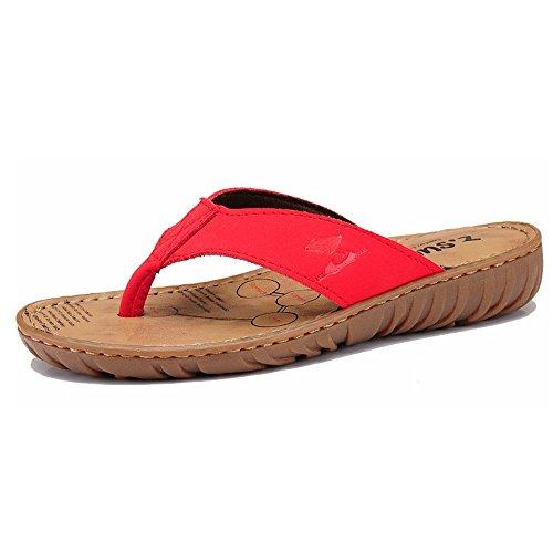 Pantoufles Taille Dérapant Saison EU37 Sandales A CN37 Portant Mode B Mode Pantoufles Chaussons de ZHANGRONG des UK4 5 5 Été Mesdames Anti Couleur Sandales qxUWnEwF