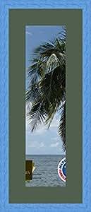 Marco de fotos de pared 15 x 56 x 56 x 15 marco de plata moderno, 2,3 cm de longitud, de madera, madera, Bleu Marine-14, Passe-Partout Vert foret