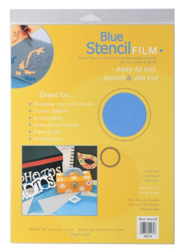 Grafix 9-Inch-by-12-Inch Stencil Film Matte; 4-Pack