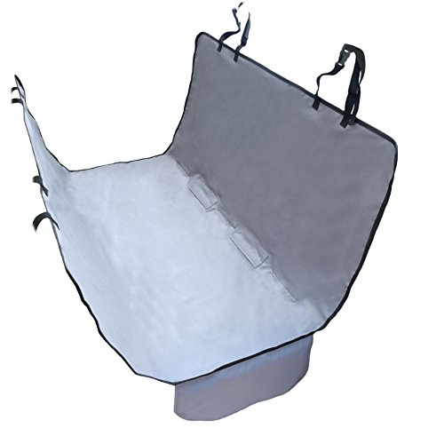NAC&ZAC New Version Hammock Pet Seat Cover for Compact Cars with Seat Anchors, Nonnslip, Extra Side Flaps,Waterproof & Machine Washable ()