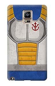 E2813 Vintage DBZ Vegeta Saiyan Armor Funda Carcasa Case para Samsung Galaxy Note 4