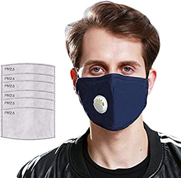 Reusable Washable Safety Protective Filter Mouth Cover Face Filter Air Pollution