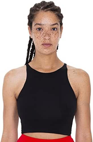 American Apparel Women's Cotton Spandex Sleeveless Crop Top