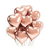 [10 Pack] ADAND Heart Shape Foil