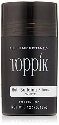 TOPPIK Hair Building Fibers, White, 0.42 - Com Tr90