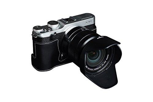 TP FUJIFILM 富士フイルム X-M1 (XM1)用本革カメラケース ブラック  カメラケース&ストラップTP1881 B01K4OZEUM