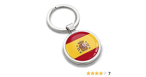 Biomar Labs® Llavero de Metal 3D con Bandera Nacional de España Española Spain Flag, Regalo para Hombre y Mujer KK 191: Amazon.es: Coche y moto