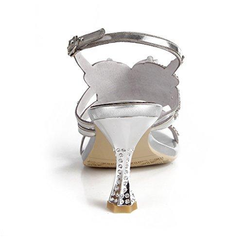 Ballo uk Medio Donna Signore Sera Di Silver Cinghietti 43 Anno 10 Tacco Nozze Festa Fine Zpl Nuziale Le Eur Diamante Sandali n8HpWwxwSq