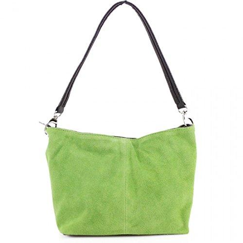 LeahWard Women's Real Suede Leather Shoulder Handbags Bag 57 Green