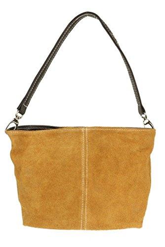 Womens Tote Handbag Suede Shoulder Leather London Tan Bag Genuine Craze New OqFxFn