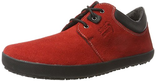 Derby Zapatos Cordones Unisex Red Rot de Kari Runner Adulto Sole wXx1Fq7H