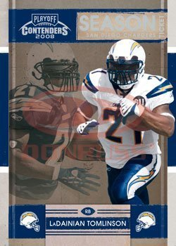 2008 Playoff Contenders Season Tickets Football Card # 80 LaDainian Tomlinson - San Diego Chargers - NFL Trading Card