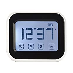 Ruidla Digital Kitchen Timer with Big Touchscreen Magnetic Countdown Time Timer for Cooking, BBQ, Kids, Game