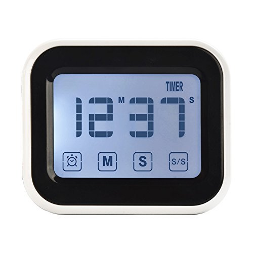 Ruidla Digital Kitchen Timer with Big Touchscreen Magnetic Countdown Time Timer for Cooking, BBQ, Kids, Game - Big Game Timer