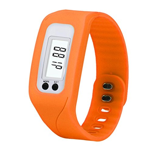 Perman Durable Digital LCD Pedometer Run Step Walking Distance Calorie Counter Watch Bracelet - Bracelet Lcd Watch