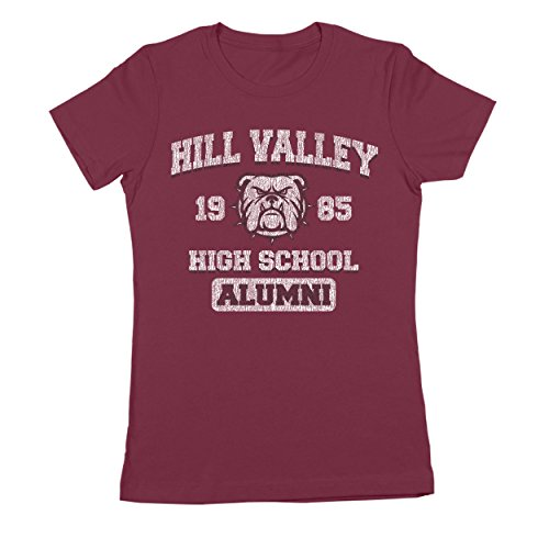 Hill Valley 1985 Funny Classic Back Future High School California Retro 80s 90s Movie Humor Womens Shirt XX-Large - Fashion Store Hours Valley