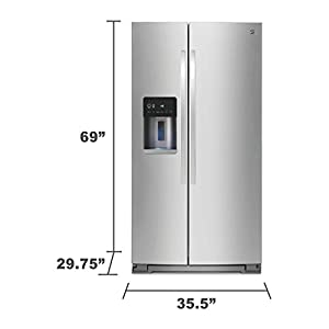 Kenmore 51783 20.6 cu. ft. Counter-Depth Side-by-Side Refrigerator in Stainless Steel, includes delivery and hookup