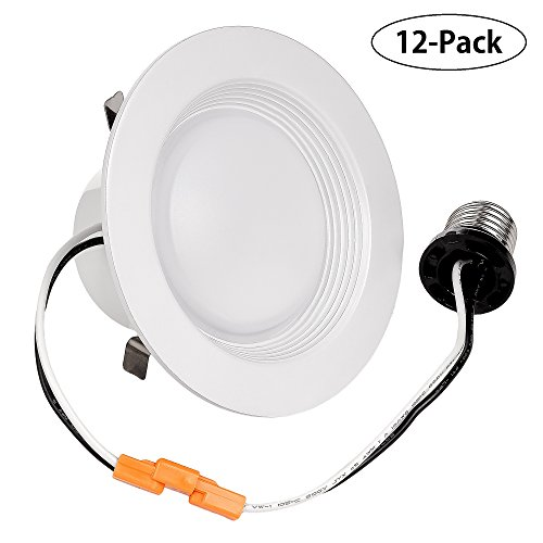 Triangle Bulbs (Pack of 12) 10 Watt Retrofit Downlight Kit 65W Replacement , Fit for 4
