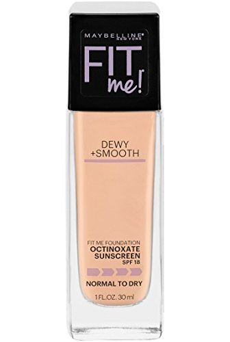Maybelline New York Fit Me Dewy + Smooth Foundation, Nude Beige, 1 fl. oz. (Packaging May Vary)
