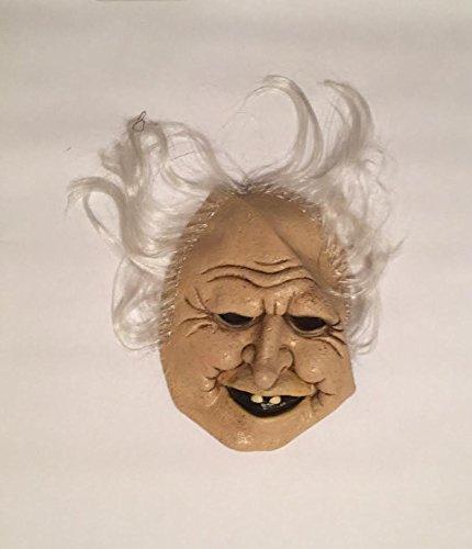 Creepy Smile Old Man Drunk Halloween Latex Costume Mask -