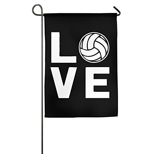 Love Volleyball Funny Graphic Garden Flag For - Volleyball Beach Candid