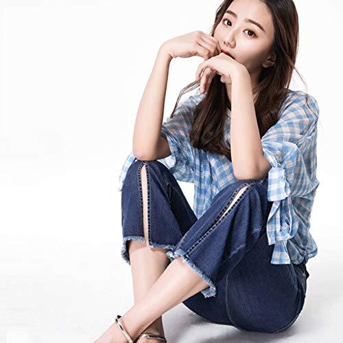 Thin Femme 1 Micro vas Split Fashion Slim Pantalon Jeans RXF Ends Jeans Pantalon 5wO7qzx6n