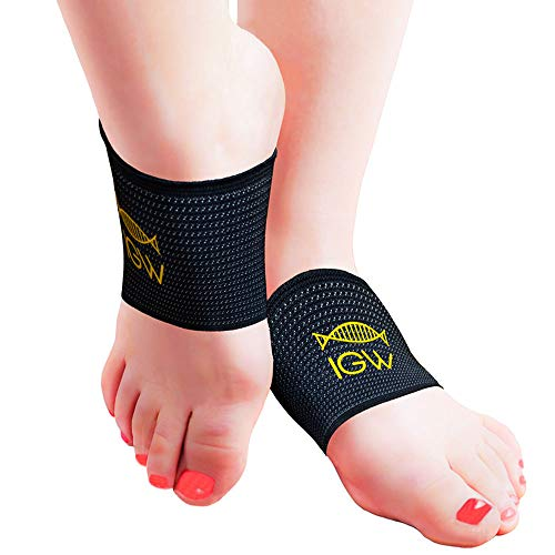 Arch Support Copper Compression Sleeve for Plantar Fasciitis & Flat Foot Sufferers to Relieve Foot Pain One Size Fits All