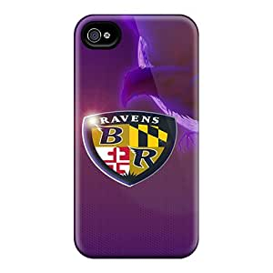 Shock Absorbent Hard Cell-phone Case For Iphone 6 With Support Your Personal Customized Colorful Baltimore Ravens Skin CassidyMunro