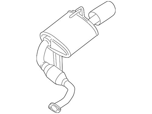 Nissan 20100-ZX70A Muffler Assembly-Exhaust Main by Nissan (Image #2)