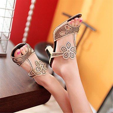 LvYuan Mujer-Tacón Bajo Tacón Robusto-Otro Innovador Zapatos del club-Sandalias-Vestido Informal-Purpurina Materiales Personalizados-Negro Azul Red