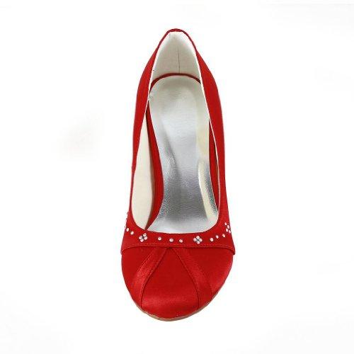 JIA JIA, Scarpe col tacco donna, Rosso (rosso), 36