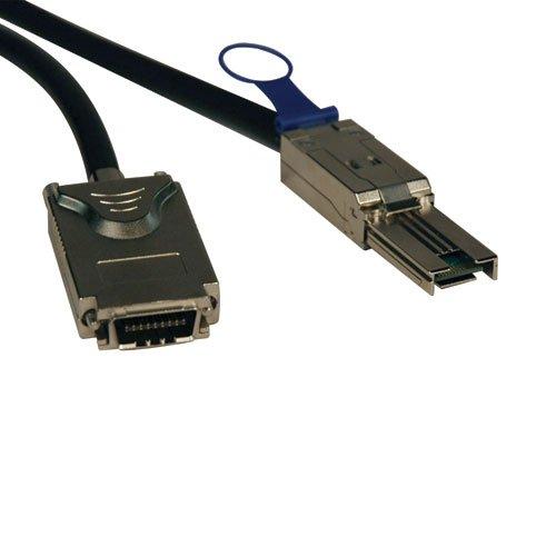 Tripp Lite External SAS Cable, 4 Lane - mini-SAS (SFF-8088) to 4xInfiniband (SFF-8470) 1M (3-ft.)(S520-01M) by Tripp Lite
