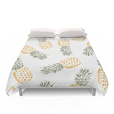Society6 Pineapple Duvet Covers Queen: 88  x 88