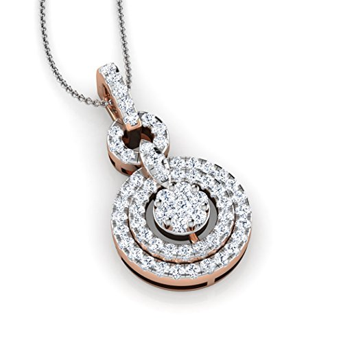 Or Rose 18K 0,45CT TW Round-cut-diamond (IJ | SI) Pendentif
