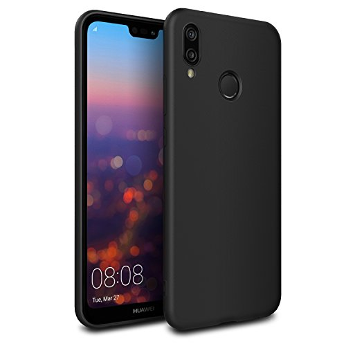Huawei P20 Lite Case, EasyAcc Black TPU Cover...
