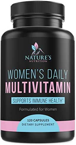 Multivitamin for Women Highest Potency Daily Vitamins with Biotin 1000mg - Natural Supplement - Made in USA - Best Vitamins A B C D E, Calcium, Zinc, Magnesium, Folic Acid - 120 Capsules