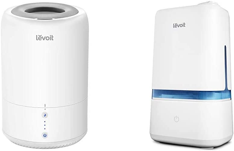 LEVOIT Humidifiers for Bedroom, Cool Mist Humidifier for Babies, Top Fill Ultrasonic Air Humidifier, Auto Shut Off (1.8L/0.48Gal) & Humidifiers for Bedroom, 4L Ultrasonic Cool Mist Humidifier