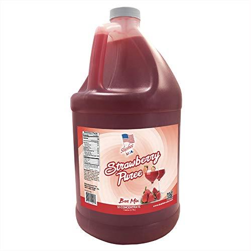 Strawberry Puree Margarita/Daiquiri Bar Mix Concentrate | 4 x 1 Gallons Per Case