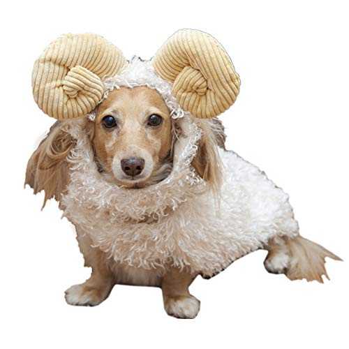 Coppthinktu Sheep Dog Costume Halloween Dragon Fruit Dog Costume Fashion Pet Headwear Holiday Party Cap Dress Up for Cat Kitten Puppy Small Medium Dogs Funny Photo Props Accessories]()
