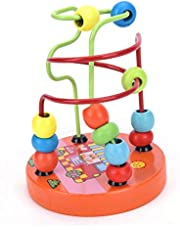 1PCS Educational Montessori Wooden -Wire Maze Around Beads Math Toy Kids Developmental Learning Game Blocks