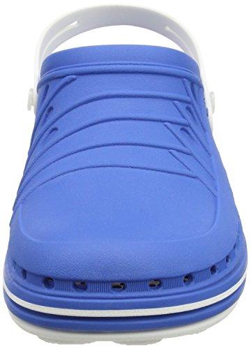 WOCK Wock Clog - Zuecos unisex Azul (weiss/medium blue)