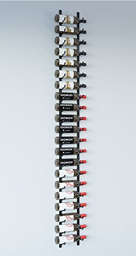 - VintageView WS71 7-Foot 21 Bottle Metal Wall Mounted Wine Rack in Satin Black (1 Row Deep)