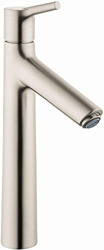 hansgrohe Talis S Modern Premium Easy Clean 1-Handle 1 12-inch Tall Bathroom Sink Faucet in Brushed Nickel, 72032821
