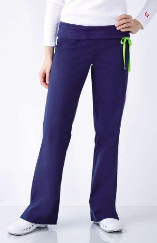 Urbane Scrubs Women's Knit Waistband Pant - Navy, Medium