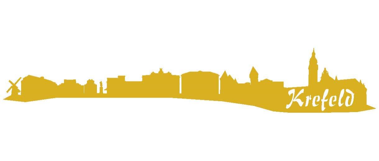 Samunshi® Aufkleber Krefeld Skyline Autoaufkleber in 9 Größen und 25 Farben (140x25cm kupfermetalleffekt) B007JFPLC6 | Große Klassifizierung