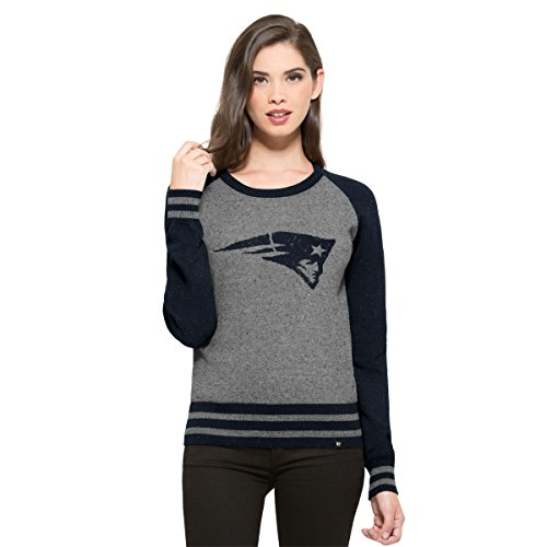 NFL New England Patriots Women's '47 Neps Pullover Sweater, X-Large, Slate Grey Neps (Patriots 2015 Champion Pennant compare prices)