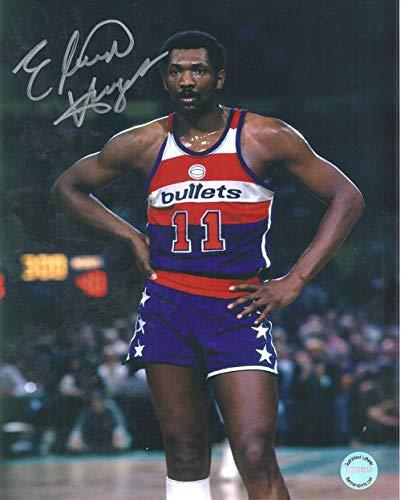 (Elvin Hayes Autographed Washington Bullets 8x10 Photo Blue)